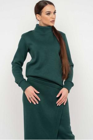 Свитшот «Лорена-вязка» зеленого цвета