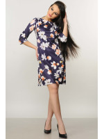 Сукня «Хвиля» фіолетового кольору з магноліями
