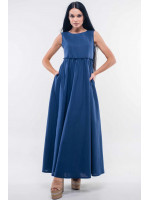 Платье «Лилиан» темно-синего цвета