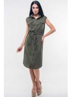Платье «Кайли» цвета хаки
