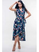 Платье «Алита» темно-синего цвета
