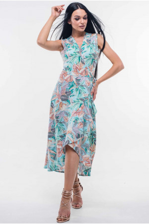 Платье «Алита» голубого цвета