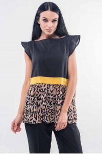 Блуза «Лео» чорного кольору