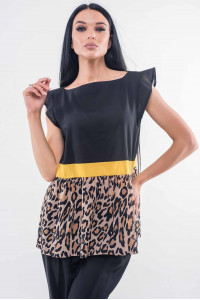 Блуза «Лео» черного цвета
