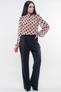 Блуза «Бруна» кольору капучино