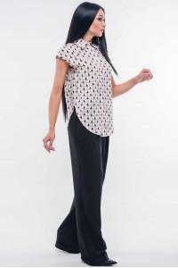 Блуза «Никки» бело-пудрового цвета