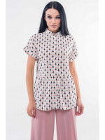 Блуза «Емілія» біло-пудрового кольору