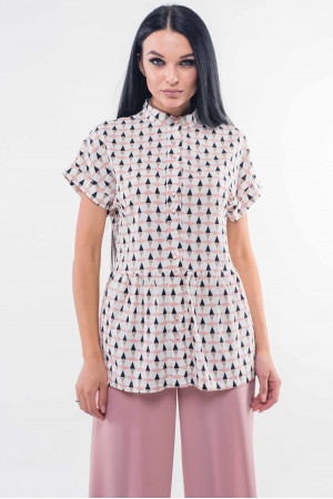 Блуза «Эмилия» бело-пудрового цвета