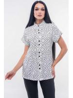 Блуза «Эмилия» белого цвета