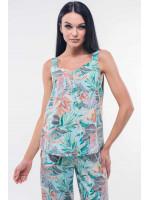 Майка «Гаваї» блакитного кольору з пальмами