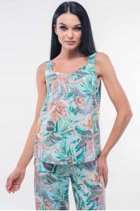 Майка «Гавайи» голубого цвета с пальмами