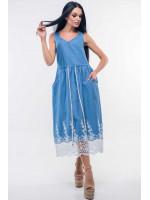 Сарафан «Ірис» блакитний-ажур