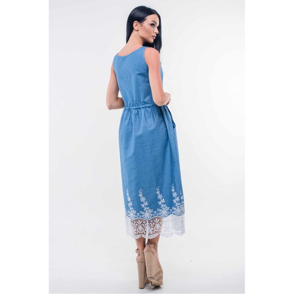 8949c54a6b26b4 Сарафан «Ірис» блакитний-ажур – купити в Україні