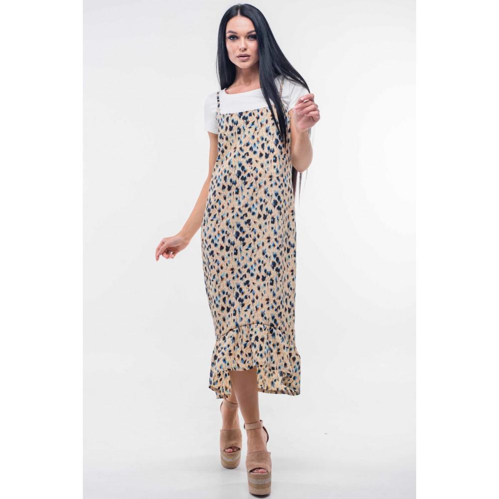 568689d3b0d941 Сарафан «Джилл» бежевого кольору – купити в Україні