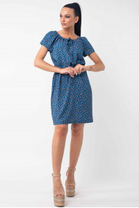 Платье «Кира» синего цвета