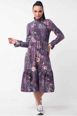 Платье «Рут» фиолетового цвета