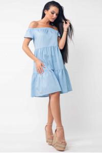 Платье «Нейли» голубого цвета
