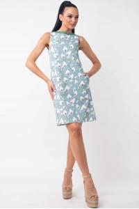 Платье «Отти» голубого цвета