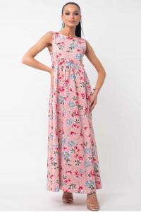 Платье «Лилиан» розового цвета с цветами