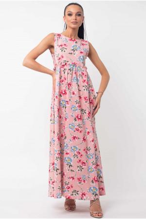 Сукня «Ліліан» рожевого кольору з квітами