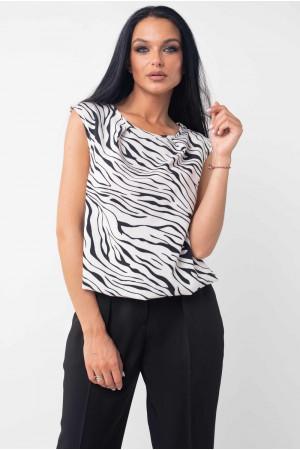 Блуза «Кітті» чорно-білого кольору