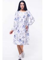 Платье «Шейла» с синими цветами