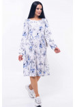 Сукня «Шейла» з синіми квітами