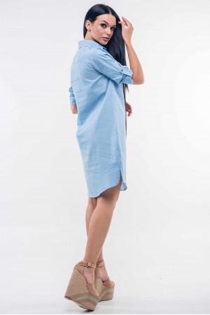 Платье «Тейли» цвета голубой джинс