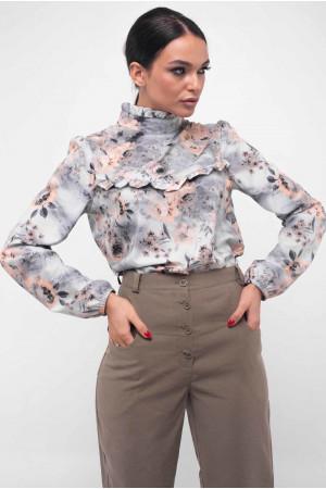 Блуза «Рут» серого цвета