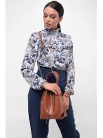 Блуза «Рут» голубого цвета
