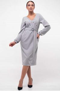 Платье «Хайди» серого цвета