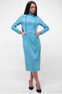 Платье «Вилл» голубого цвета