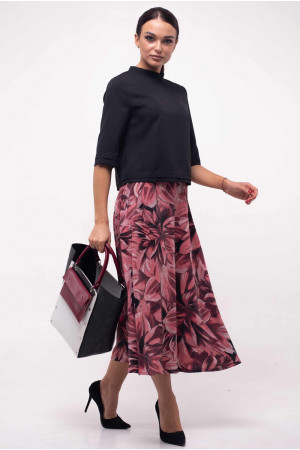 Блуза «Юка» черного цвета