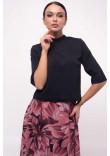 Блуза «Юка» чорного кольору