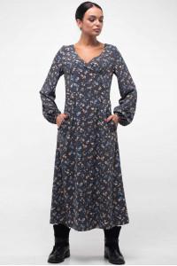 Платье «Луиза» графитового цвета