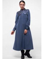 Платье «Курт» цвета джинс