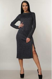 Платье «Тина» темно-синего цвета