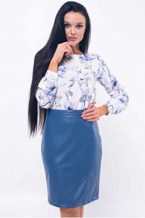 Блуза «Марта» сине-белого цвета