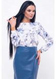 Блуза «Марта» синьо-білого кольору