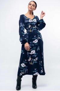 Платье «Луиза» темно-синего цвета