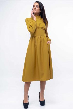 Сукня «Оксі» гірчичного кольору