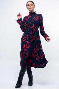 Платье «Рут» темно-синего цвета