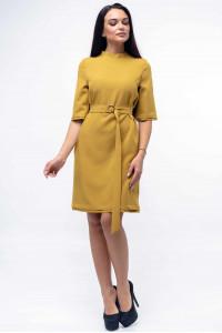 Платье «Юка» горчичного цвета