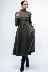 Сукня «Стелла-лонг» кольору хакі