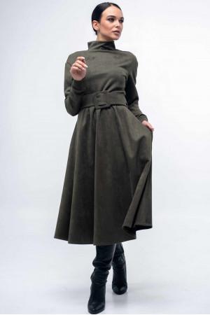 Платье «Стелла-лонг» цвета хаки