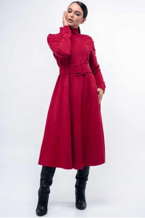 Платье «Стелла-лонг» малинового цвета