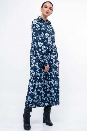 Платье «Флоренц» синего цвета