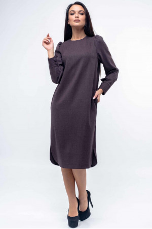 Платье «Джен» баклажанового цвета
