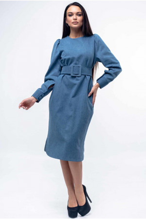 Платье «Джен» цвета джинс
