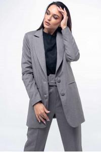 Пиджак «Вики» серого цвета